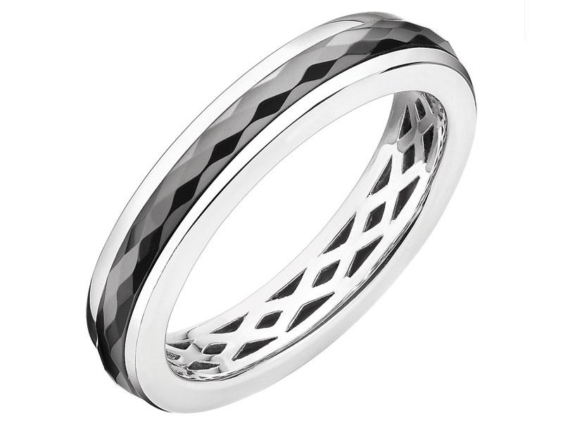 1c4d33ce56ea Pierścionek srebrny z ceramiką