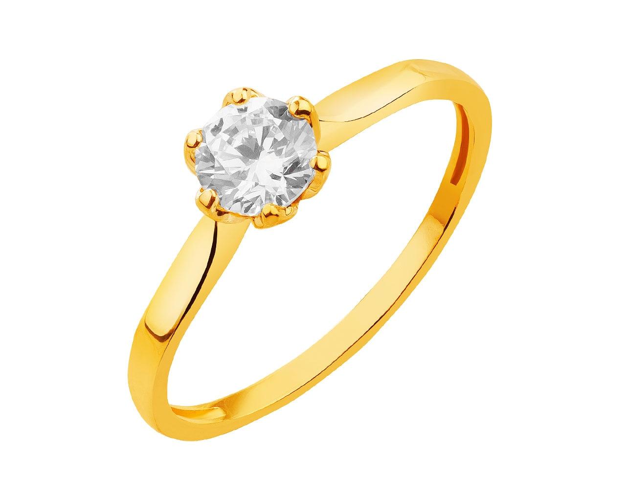 0d79db6ced5e8e Złoty pierścionek z cyrkonią - wzór P-906.01 / Apart