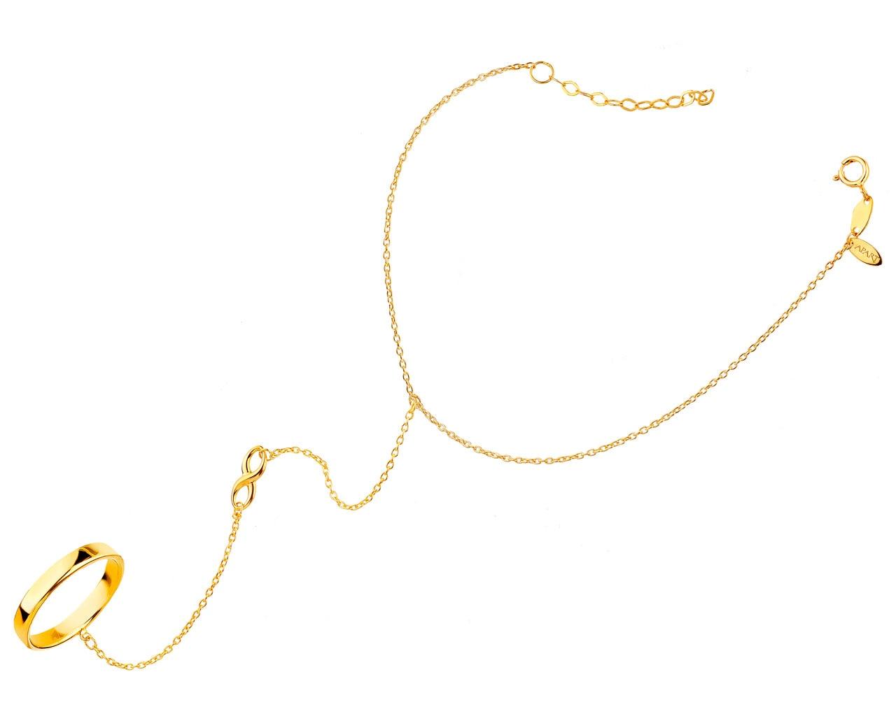 16f4a6a5705671 Złota bransoleta na palec - wzór AP126-0342 / Apart