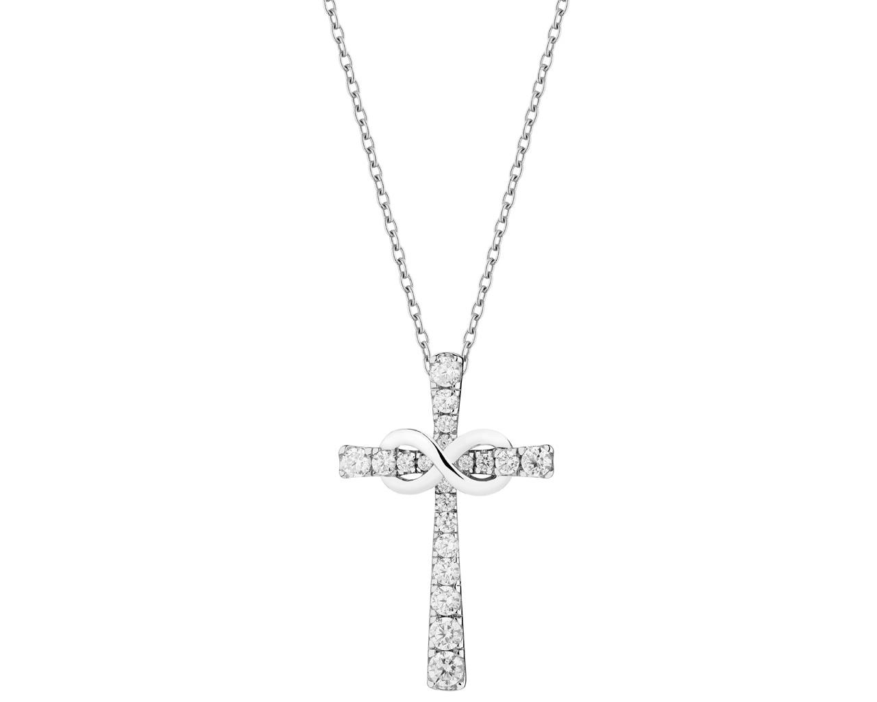 6edc63ca1f9f9f Zawieszka srebrna - krzyż z cyrkoniami - wzór AP127-9559 / Apart