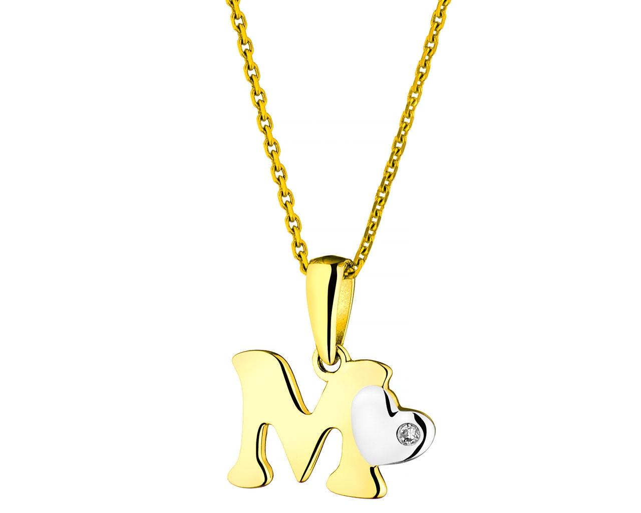 15a0196bdd Zawieszka z żółtego złota z diamentem