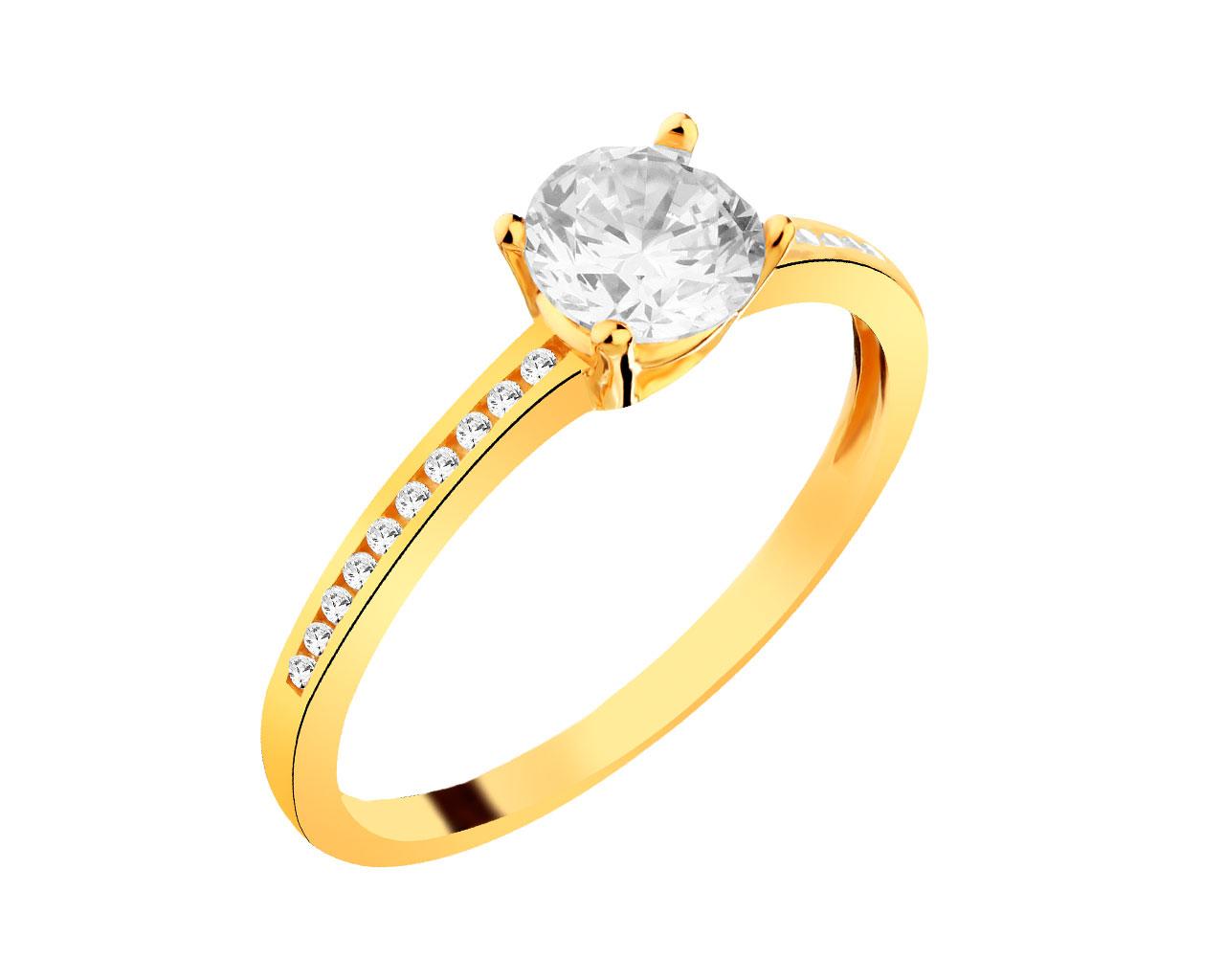 Złoty Pierścionek Wzór P 102901 Apart