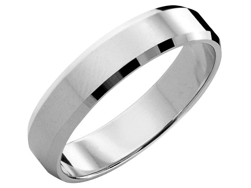 45b570a304cb95 Obrączka srebrna - wzór LUX16 / Apart