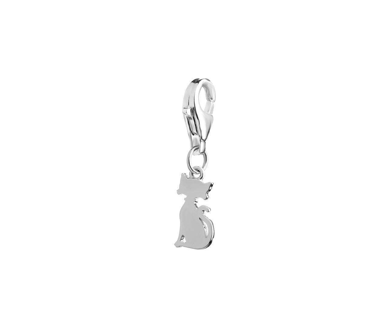 382a56ccd83131 Zawieszka srebrna charms - kot - wzór AP522-4133 / Apart