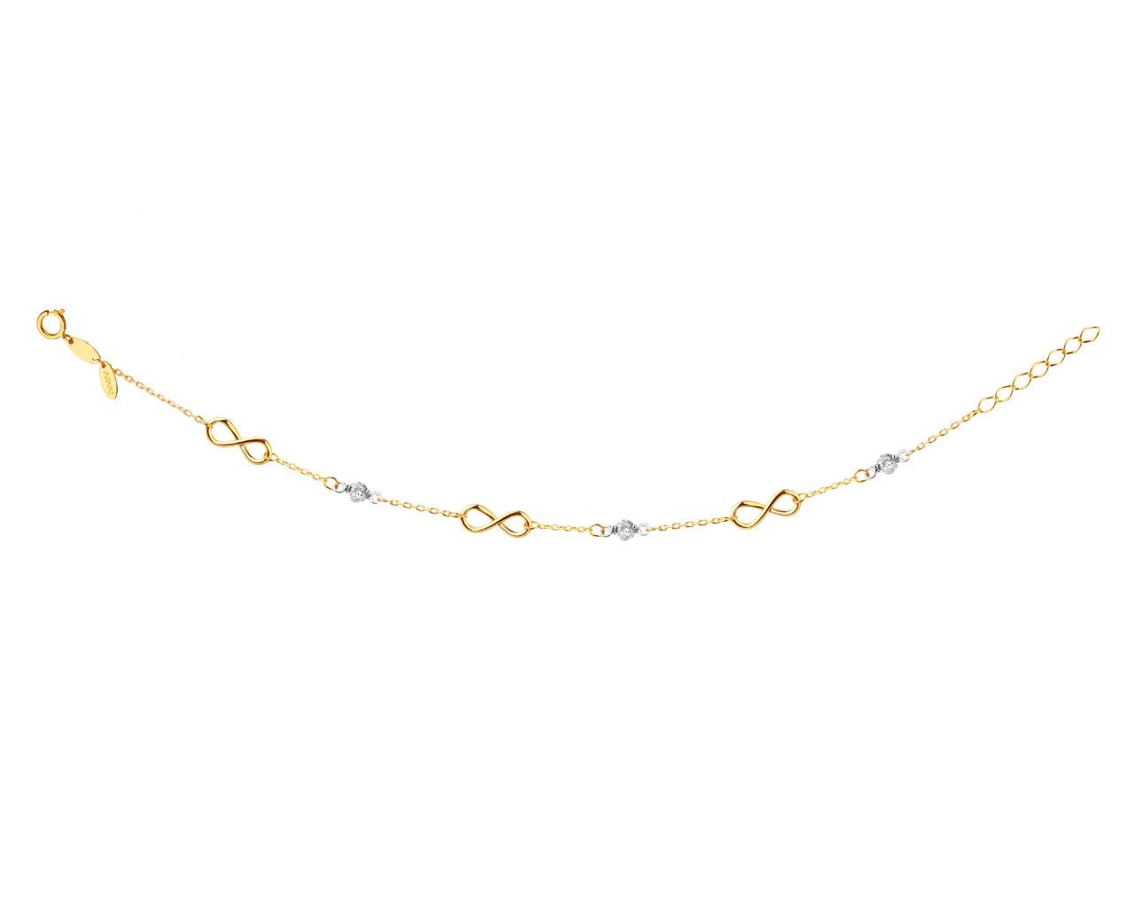 1fd1b1ccb0faf2 Złota bransoletka z cyrkoniami, nieskończoność - wzór AP523-2886 / Apart