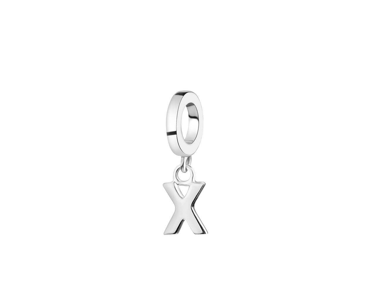 Zawieszka Srebrna Na Bransoletę Beads Litera X Wzór Ap522 5903