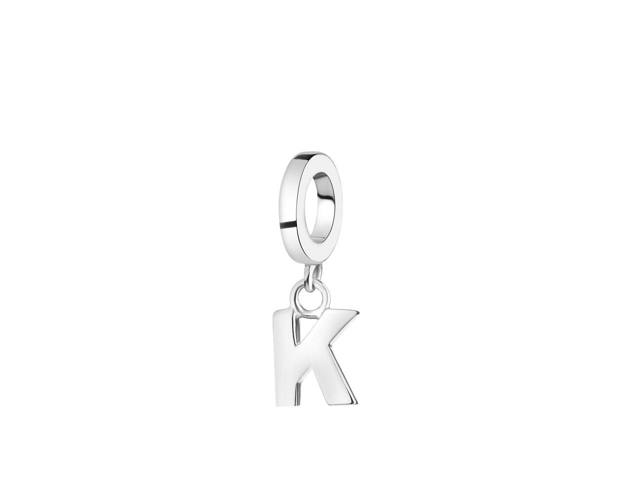 Zawieszka Srebrna Na Bransoletę Beads Litera K Wzór Ap522 5909