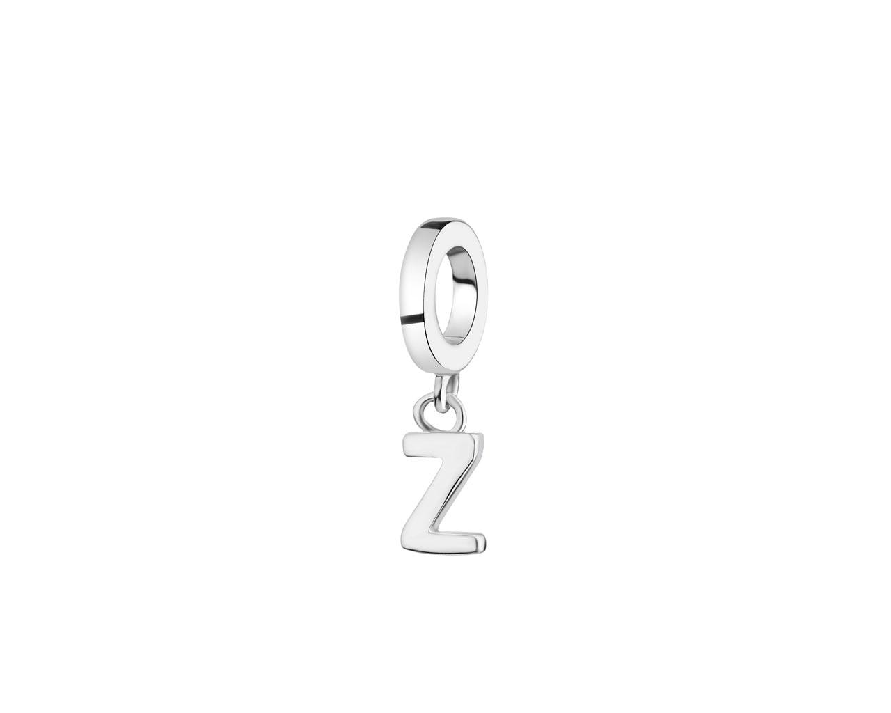 Zawieszka Srebrna Na Bransoletę Beads Litera Z Wzór Ap522 5906