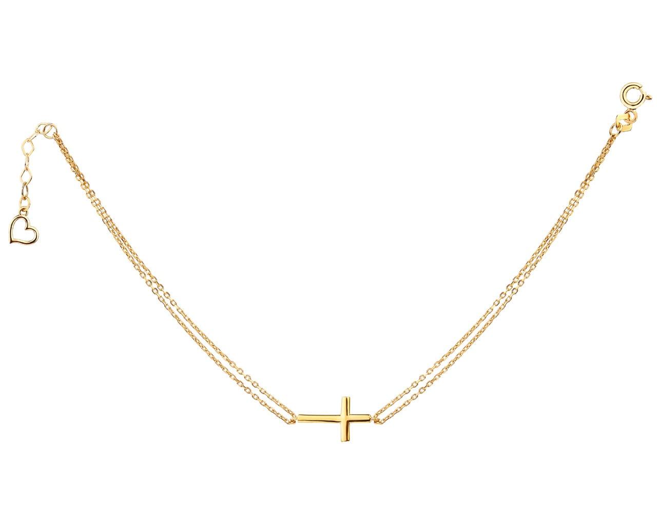 57a973fcbc2cf1 Złota bransoletka z krzyżykiem - wzór AP523-3207 / Apart