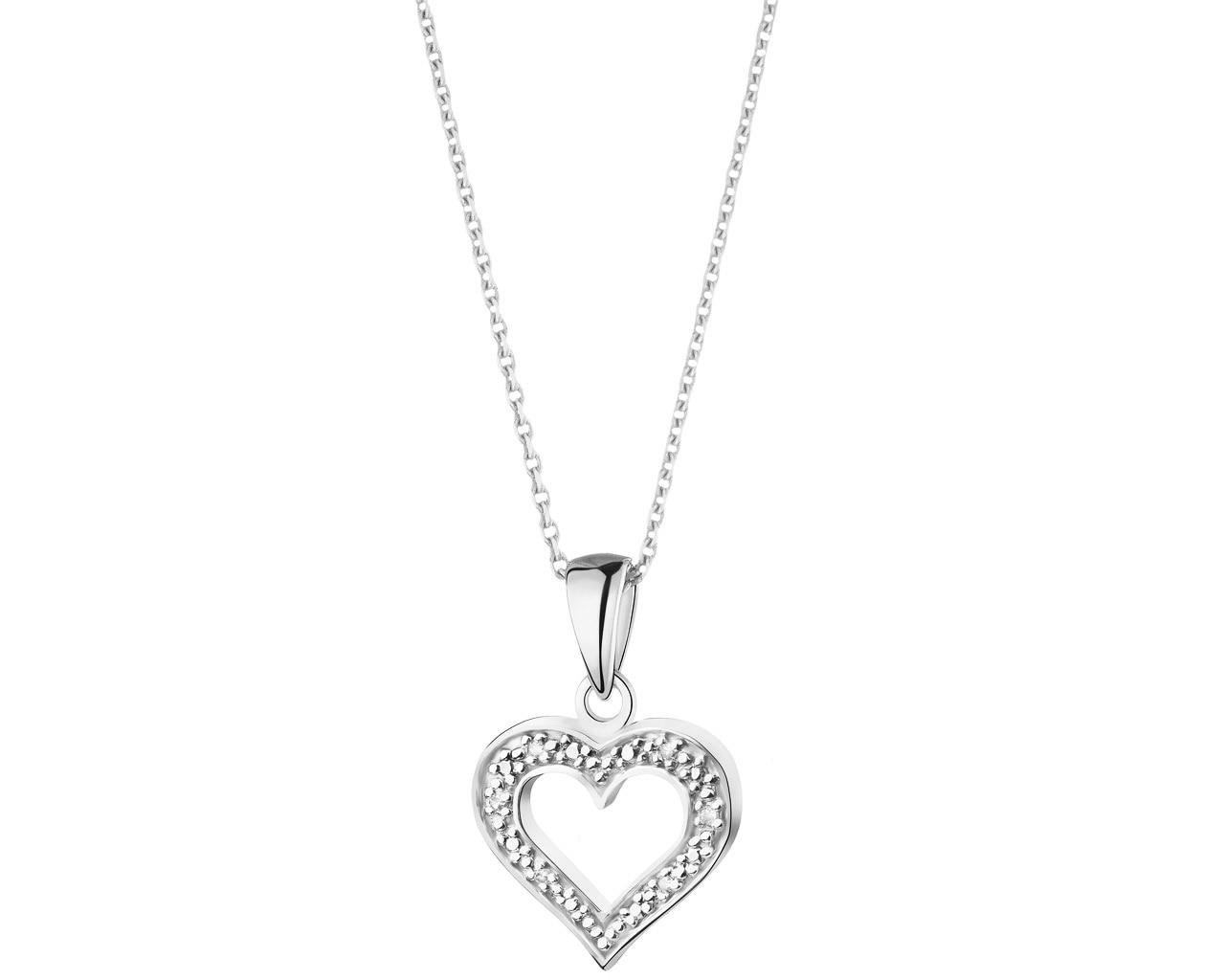 aa91b344652690 Zawieszka z białego złota z diamentami - wzór 101.169 / Apart