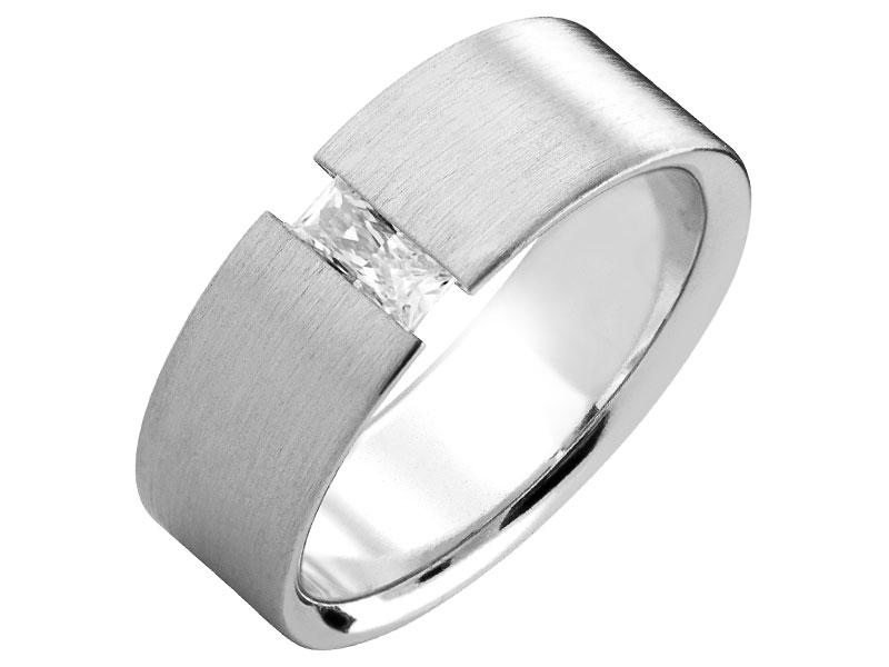 81d2f5a6ef7e82 Obrączka srebrna - wzór LUX10 / Apart