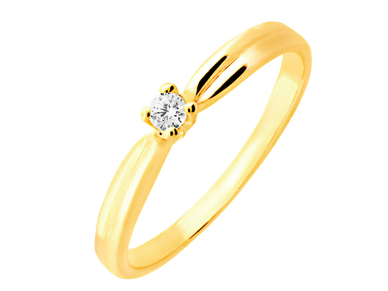 27967c6810f6bb Złoty pierścionek - wzór P-801.01 / Apart