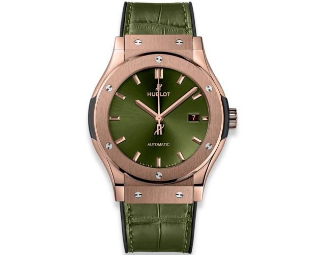 Hublot Classic Fusion 42 mm Green King Gold