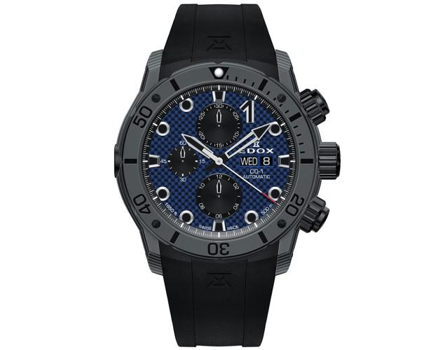 Edox Carbon Chronograph Automatic