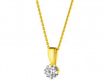 18ct Yellow Gold Pendant with Diamond