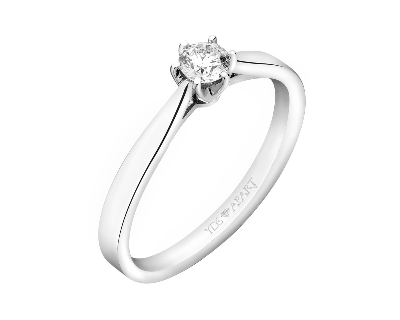 18ct White Gold Ring with Diamond