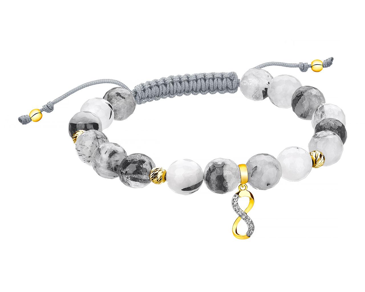 Bransoletka Artelioni srebrna z pozlacanymi elementami :)