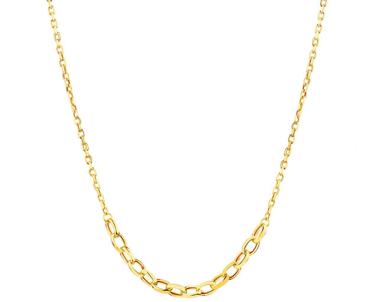 Yellow Gold Necklace with Cubic Zirconia