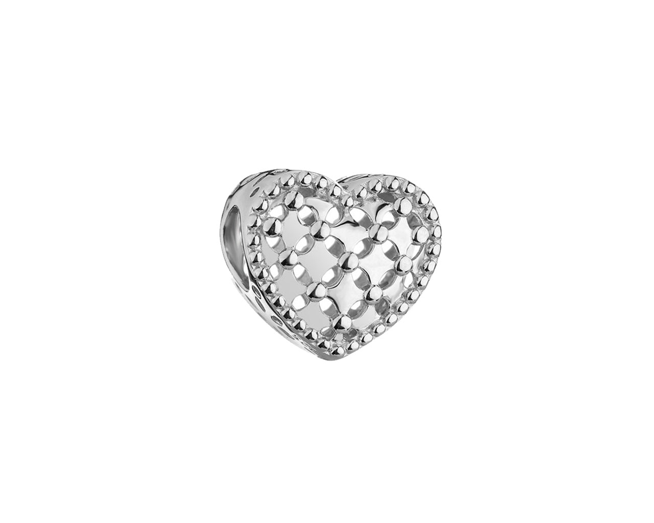 Sterling Silver Beads Pendant - Heart