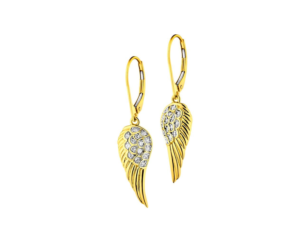 Yellow Gold Diamond Earrings Angel S Wings Ref No 181 250 Apart