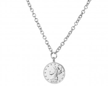 Sterling Silver Necklace - Coin