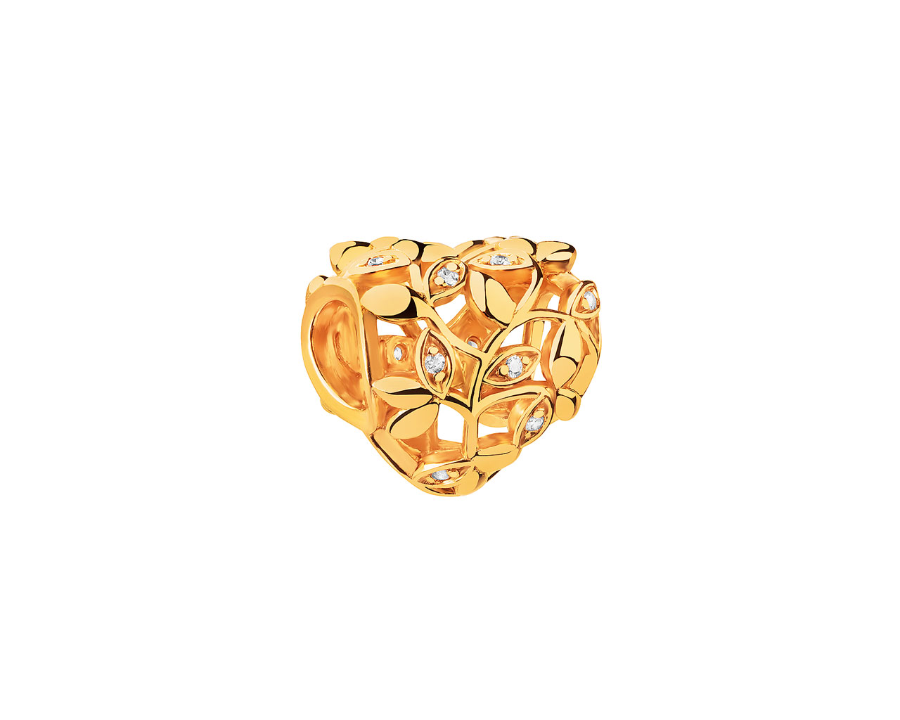Gold-Plated Silver Pendant with Cubic Zirconia