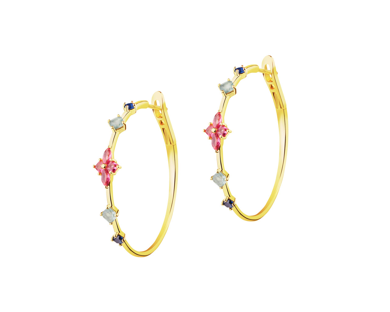 Gold-Plated Silver Earrings with Cubic Zirconia