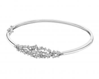 585 Rhodium-Plated White Gold Bracelet with Diamonds