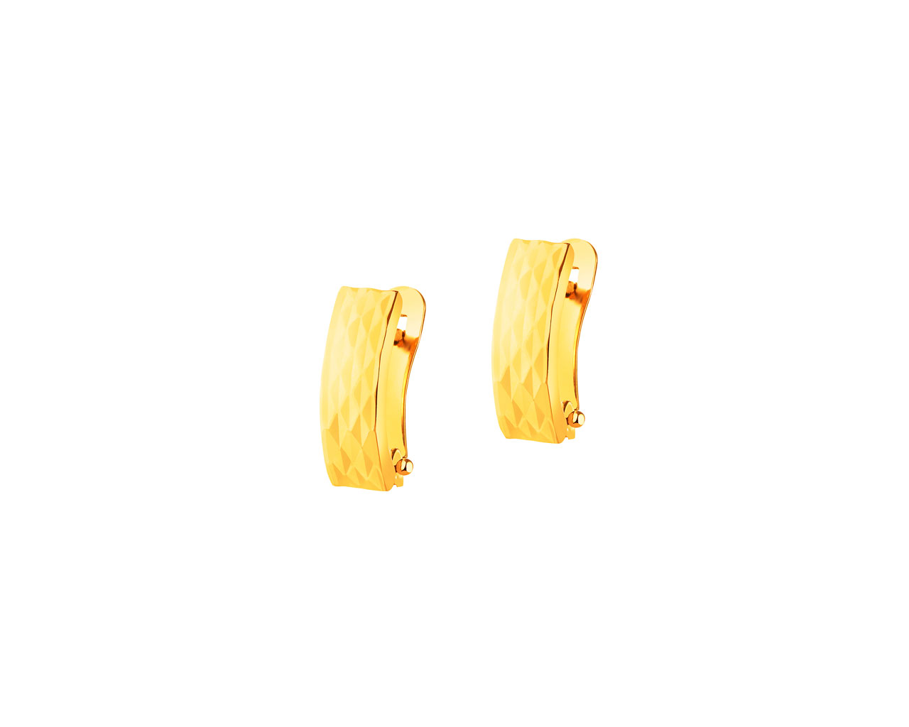 14 K Yellow Gold Earrings
